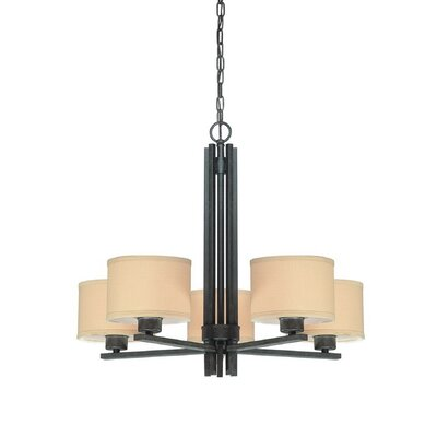 Hirst 5-Light Drum Chandelier Finish: Olde World Iron