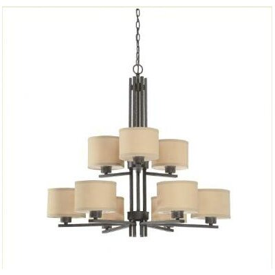 Young 9-Light Drum Chandelier Finish: Olde World Iron