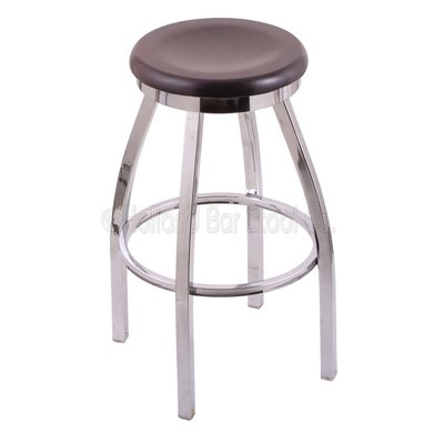 Cragin 36 Swivel Bar Stool Leg Finish: Chrome, Finish: Dark Cherry Maple