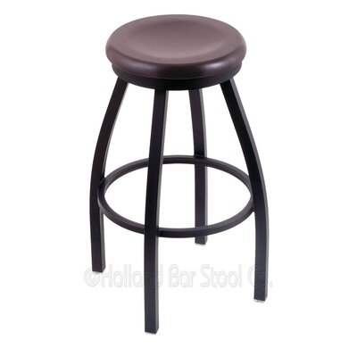 Cragin 36 Swivel Bar Stool Leg Finish: Black Wrinkle, Finish: Dark Cherry Maple