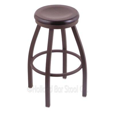 Cragin 30 Swivel Bar Stool Leg Finish: Bronze, Seat Finish: Dark Cherry Maple