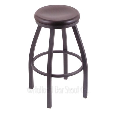 Cragin 36 Swivel Bar Stool Leg Finish: Pewter, Finish: Dark Cherry Oak