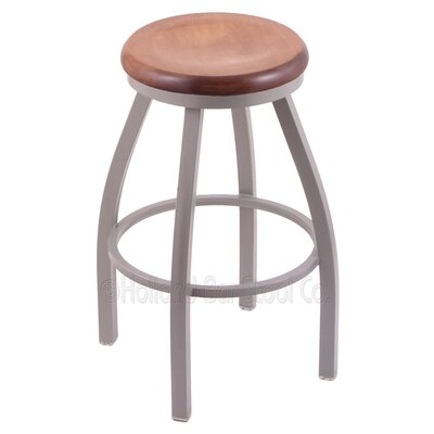 Cragin 30 Swivel Bar Stool Upholstery: Anodized Nickel, Upholstery: Natural Oak