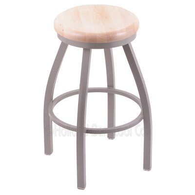 Cragin 30 Swivel Bar Stool Upholstery: Pewter, Upholstery: Natural Maple