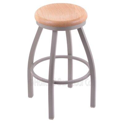 Cragin 30 Swivel Bar Stool Upholstery: Pewter, Upholstery: Natural Oak