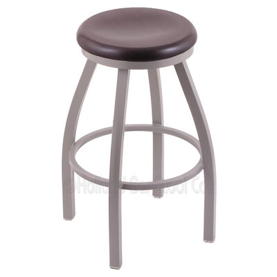 Cragin 30 inch Swivel Bar Stool Upholstery: Pewter, Upholstery: Dark Cherry Oak