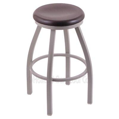 Cragin 36 Swivel Bar Stool Upholstery: Bronze, Upholstery: Dark Cherry Oak
