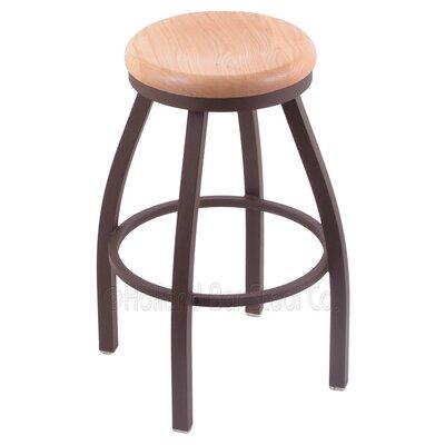"""Image of Cragin 36"""" Swivel Bar Stool Upholstery: Bronze, Upholstery: Medium Oak"""
