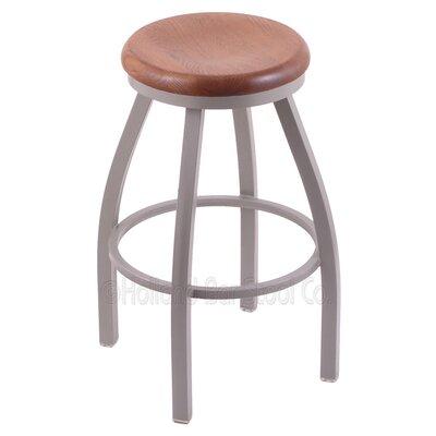 Cragin 36 Swivel Bar Stool Upholstery: Medium Oak, Upholstery: Pewter