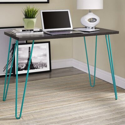 Bergland Writing Desk Finish: Teal/Espresso