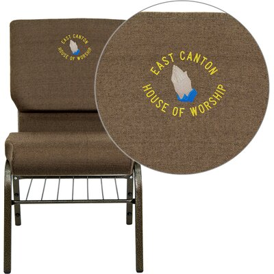 Collier Personalized Guest Chair Seat Finish: Brown