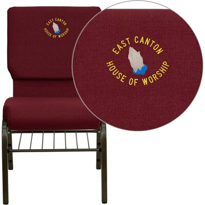 Collier Personalized Guest Chair Seat Finish: Burgundy