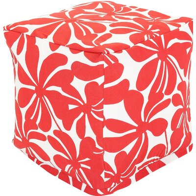 Monterey Cube Ottoman Color: Red