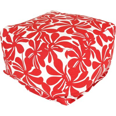 Monterey Bean Bag Ottoman Color: Red
