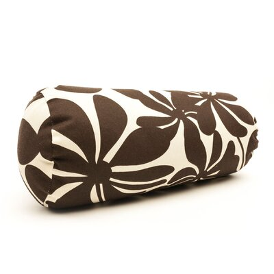 Egerton Indoor/Outdoor Bolster Pillow Color: Chocolate