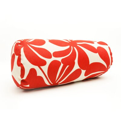 Egerton Indoor/Outdoor Bolster Pillow Color: Red
