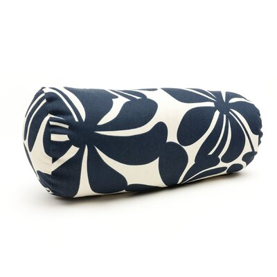 Monterey Indoor/Outdoor Bolster Pillow Color: Navy Blue