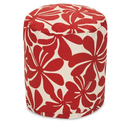Monterey Ottoman Fabric: Red