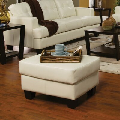 Kedzie Leather Storage Ottoman Upholstery: Cream