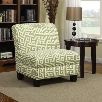 Havertown Slipper Chair Upholstery: Green