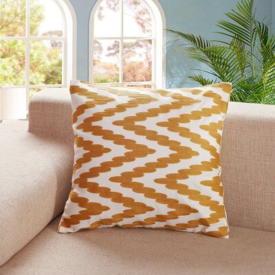 Tamworth 100% Cotton Throw Pillow Color: Gold