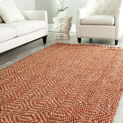 Mcelwain Hand-woven Rust Area Rug Rug Size: Rectangle 9 x 12