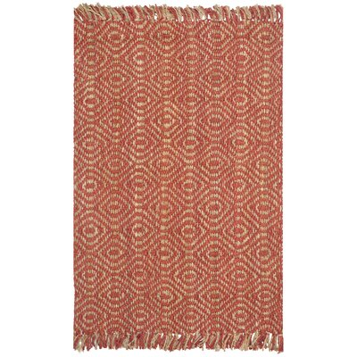Mcelwain Hand-woven Rust Area Rug Rug Size: Rectangle 4 x 6