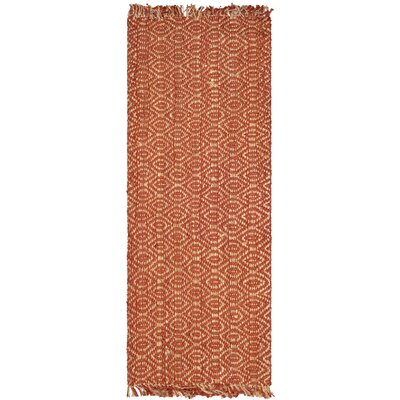 Mcelwain Hand-woven Rust Area Rug Rug Size: Rectangle 6 x 9