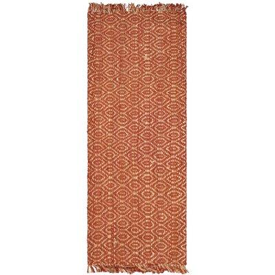 Mcelwain Hand-woven Rust Area Rug Rug Size: Rectangle 8 x 10
