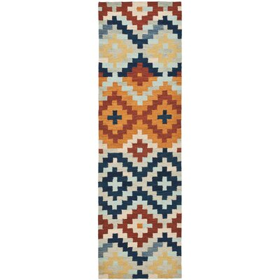 Pitkin Checked Area Rug Rug Size: Runner 26 x 10