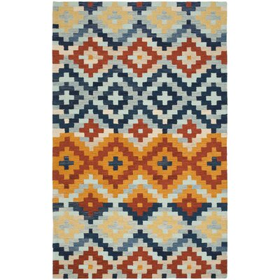 Ariadnee Checked Area Rug Rug Size: 53 x 83