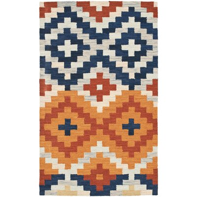Ariadnee Checked Area Rug Rug Size: 18 x 26