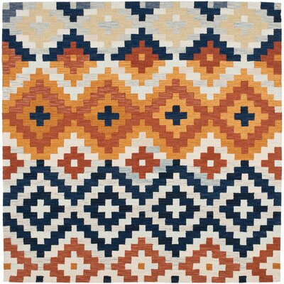 Pitkin Checked Area Rug Rug Size: Square 6'