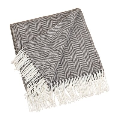 Elkins Park Throw Blanket Color: Chocolate
