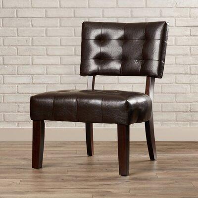 Modern Vinyl Slipper Chair Color: Espresso