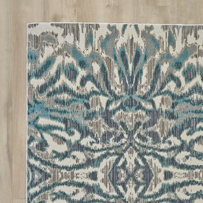 Sutton Place Aqua/Haze Area Rug Rug Size: Runner 27 x 8
