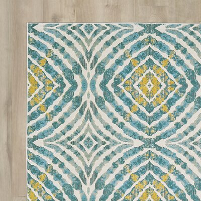 Sutton Place Teal Area Rug Rug Size: Runner 27 x 8