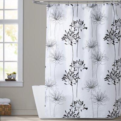 Brinckerhoff Shower Curtain Color: White and Black