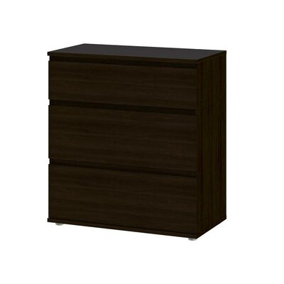 Karev 3 Drawer Chest Color: Coffee