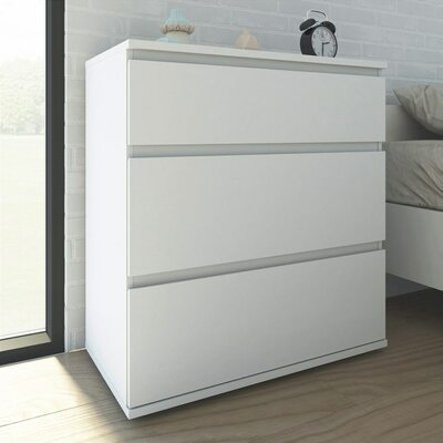 Karev 3 Drawer Chest Color: White