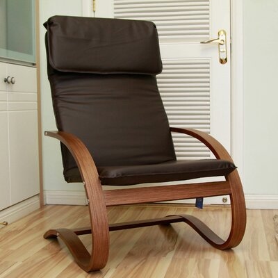 Argueta Faux Leather Lounge Chair Upholstery: Chocolate