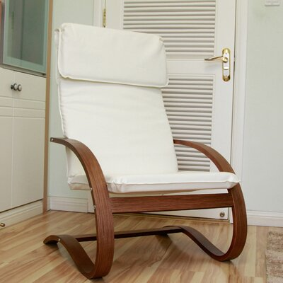 Argueta Faux Leather Lounge Chair Upholstery: Ivory