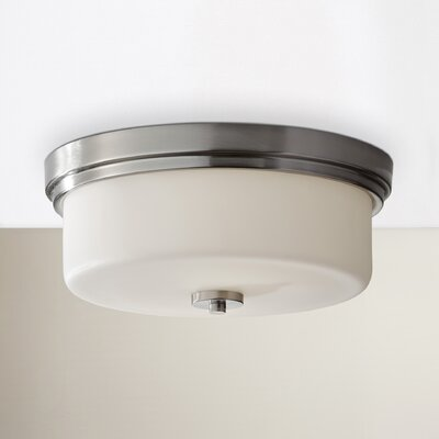 Wyncote 2-Light Flush Mount Size: 5.63 H x 13.19 D