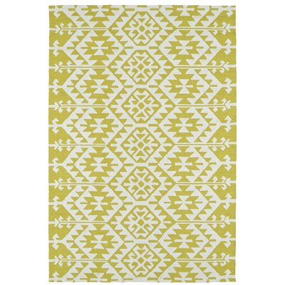 Handmade Wasabi/Ivory Indoor/Outdoor Area Rug Rug Size: Rectangle 5 x 76