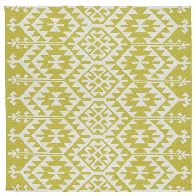Handmade Wasabi/Ivory Indoor/Outdoor Area Rug Rug Size: Square 79