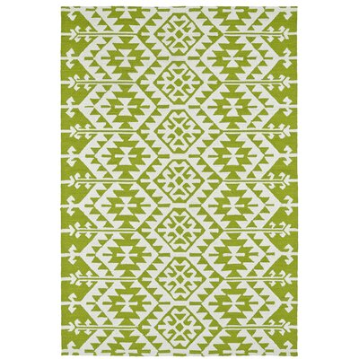 Lime Green/Ivory Indoor/Outdoor Area Rug Rug Size: 4 x 6