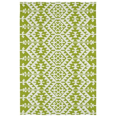 Lime Green/Ivory Indoor/Outdoor Area Rug Rug Size: 5 x 76