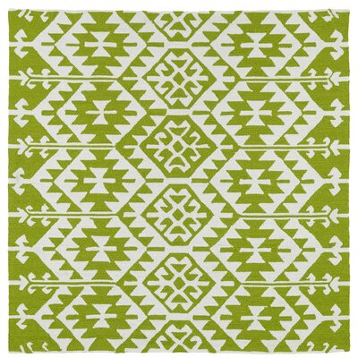 Lime Green/Ivory Indoor/Outdoor Area Rug Rug Size: Square 59
