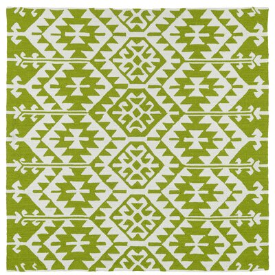 Lime Green/Ivory Indoor/Outdoor Area Rug Rug Size: Square 79