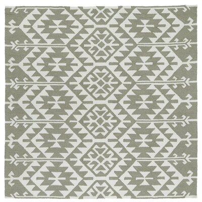 Handmade Taupe/Ivory Indoor/Outdoor Area Rug Rug Size: Square 59